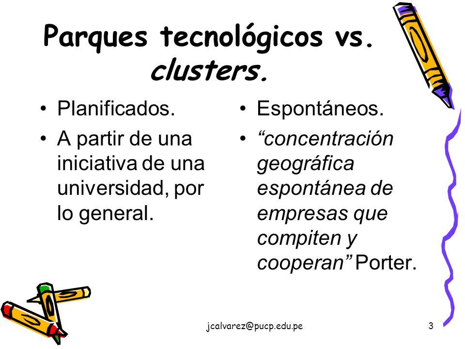 Parques tecnológicos vs. clusters.