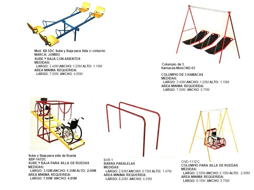Mod. SB 5DC Sube y Baja para Silla c/ cinturón