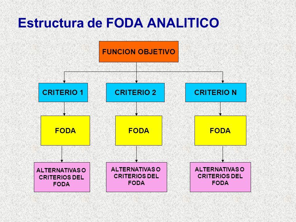 Estructura de FODA ANALITICO