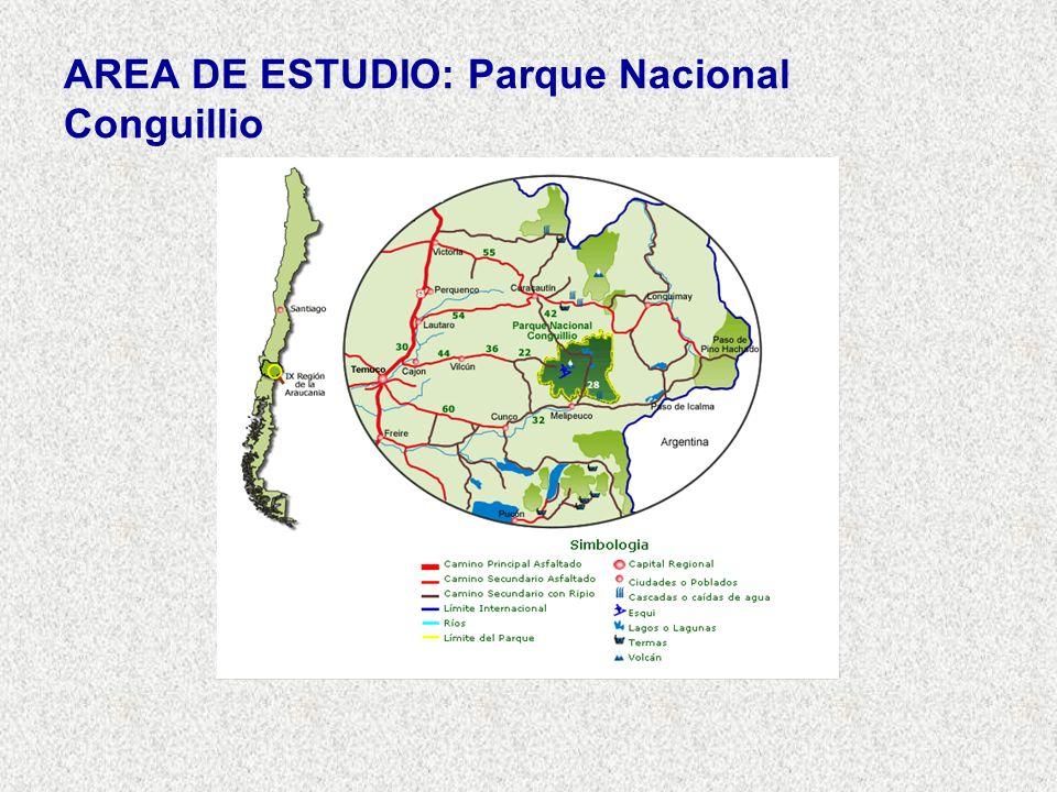 AREA DE ESTUDIO: Parque Nacional Conguillio