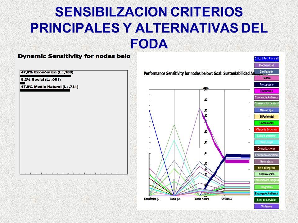 SENSIBILZACION CRITERIOS PRINCIPALES Y ALTERNATIVAS DEL FODA
