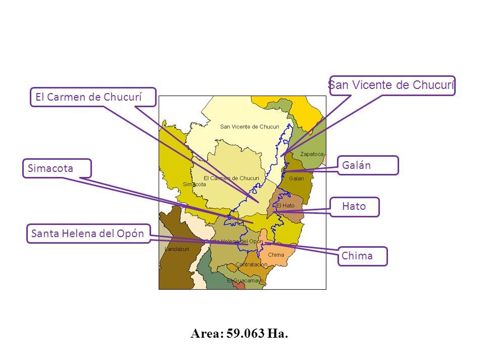 Area: 59.063 Ha. San Vicente de Chucurí El Carmen de Chucurí Galán
