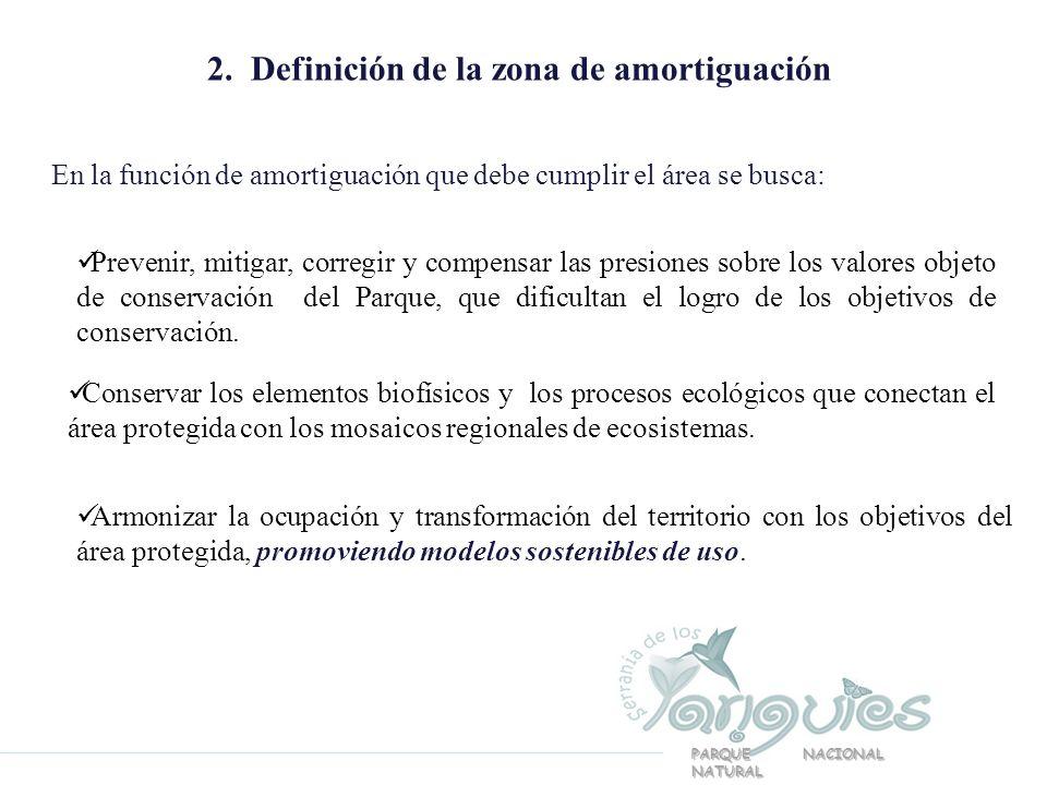 2. Definición de la zona de amortiguación