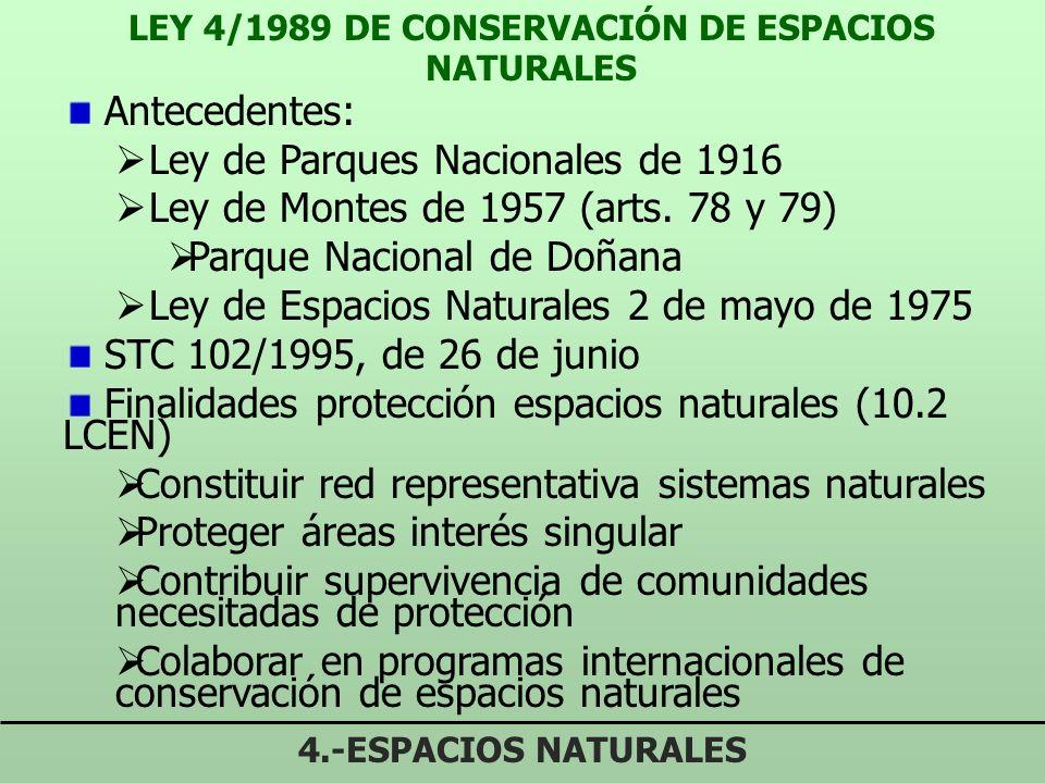 LEY 4/1989 DE CONSERVACIÓN DE ESPACIOS NATURALES