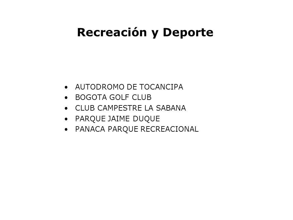 Recreación y Deporte AUTODROMO DE TOCANCIPA BOGOTA GOLF CLUB