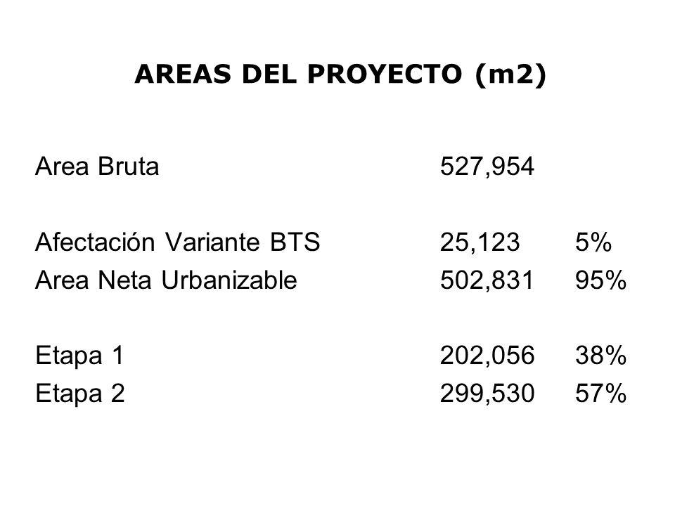 AREAS DEL PROYECTO (m2)
