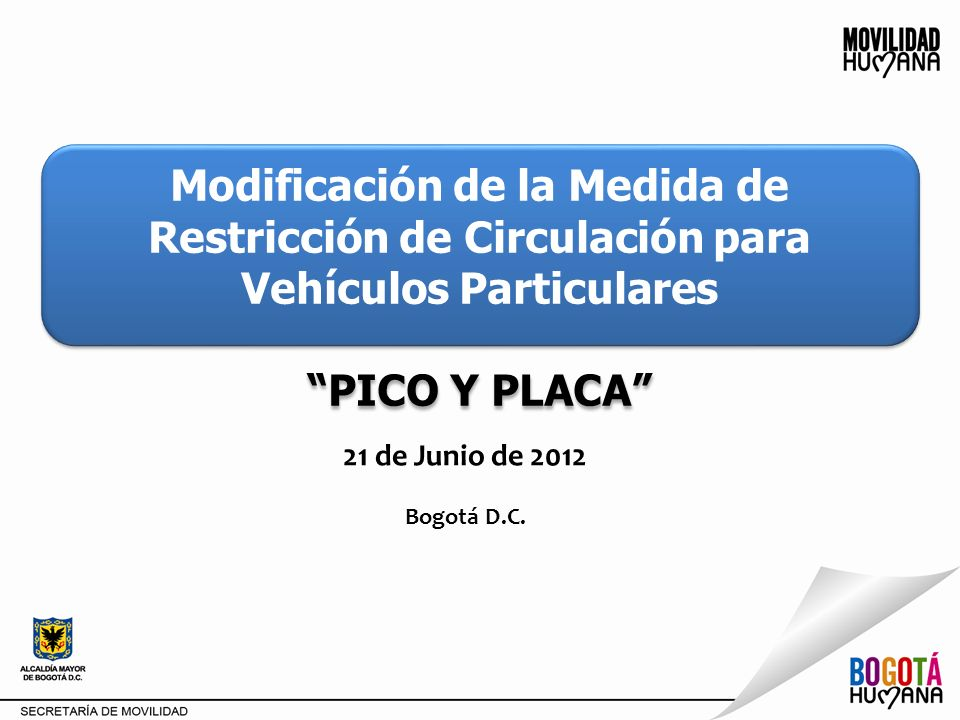 Modificación de la Medida de Restricción de Circulación para Vehículos Particulares
