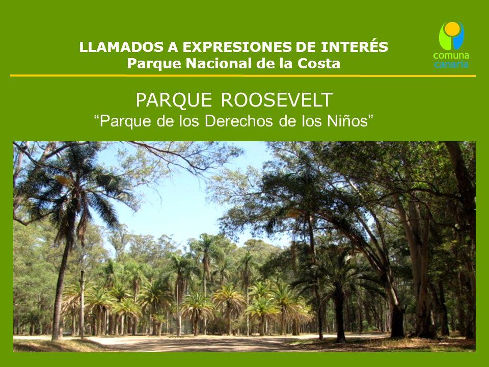 LLAMADOS A EXPRESIONES DE INTERÉS Parque Nacional de la Costa