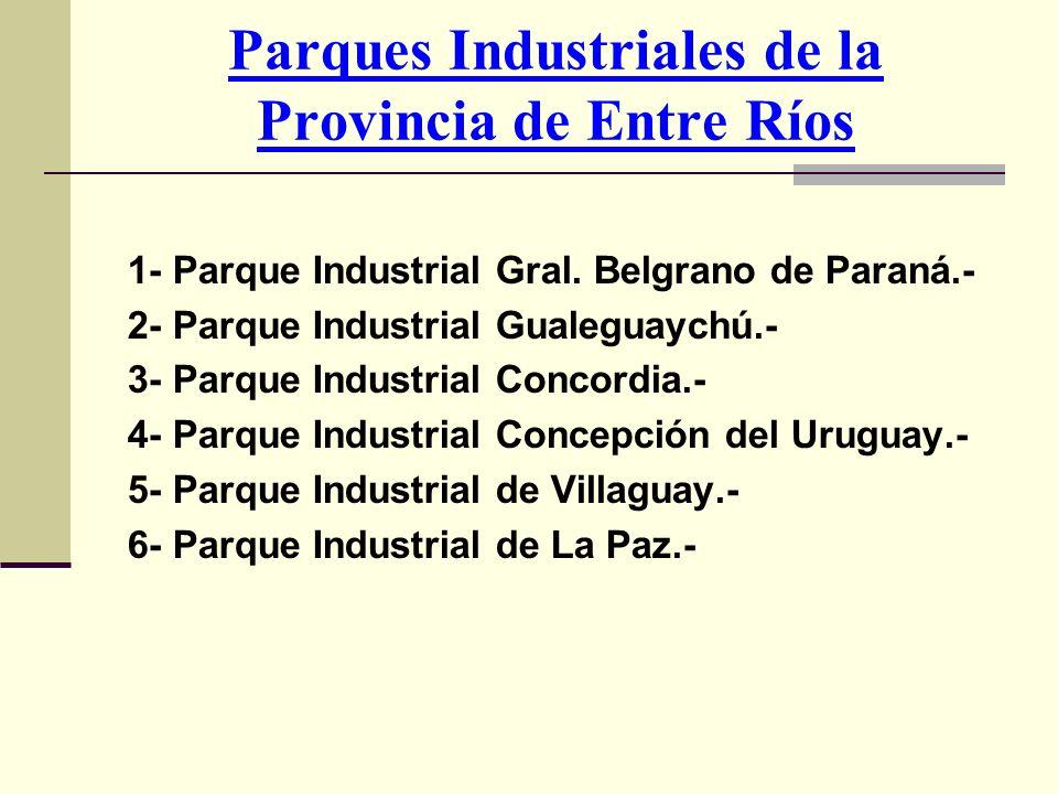 Parques Industriales de la Provincia de Entre Ríos