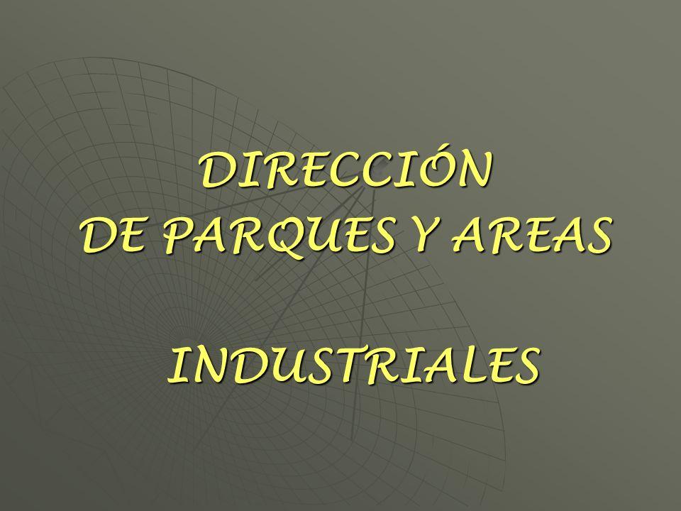 DIRECCIÓN DE PARQUES Y AREAS INDUSTRIALES