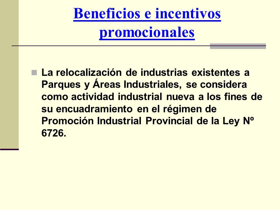 Beneficios e incentivos promocionales