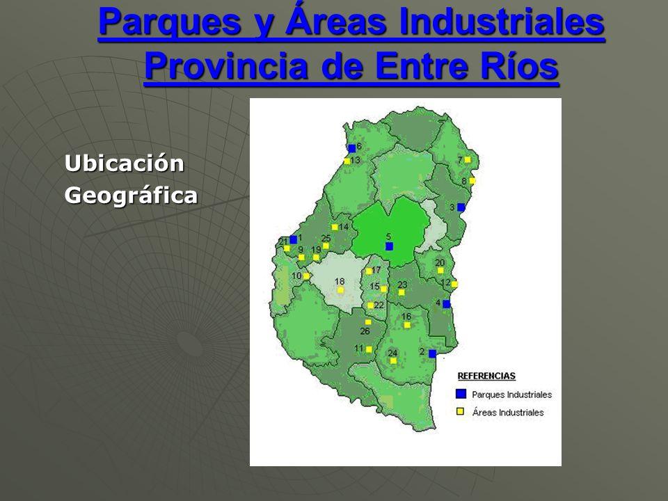 Parques y Áreas Industriales Provincia de Entre Ríos