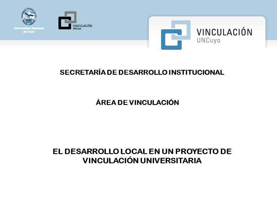 EL DESARROLLO LOCAL EN UN PROYECTO DE VINCULACIÓN UNIVERSITARIA