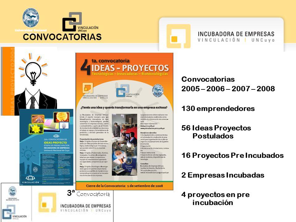 CONVOCATORIAS 3ª Convocatoria Convocatorias 2005 – 2006 – 2007 – 2008