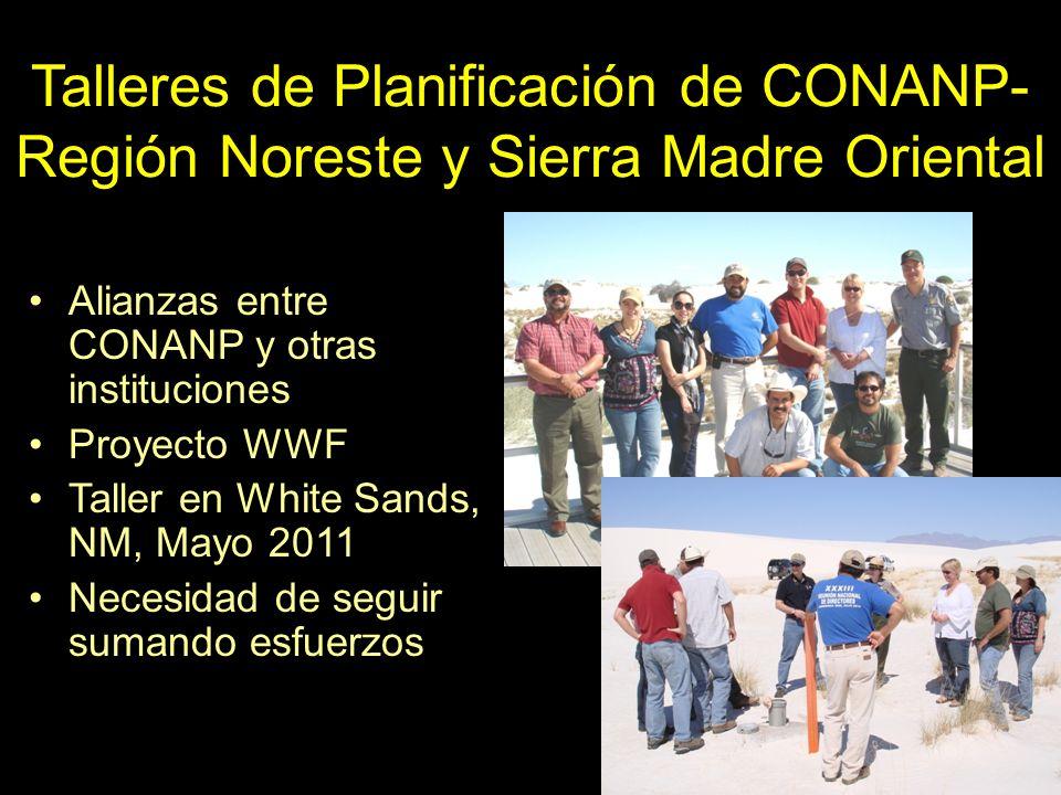 Talleres de Planificación de CONANP- Región Noreste y Sierra Madre Oriental