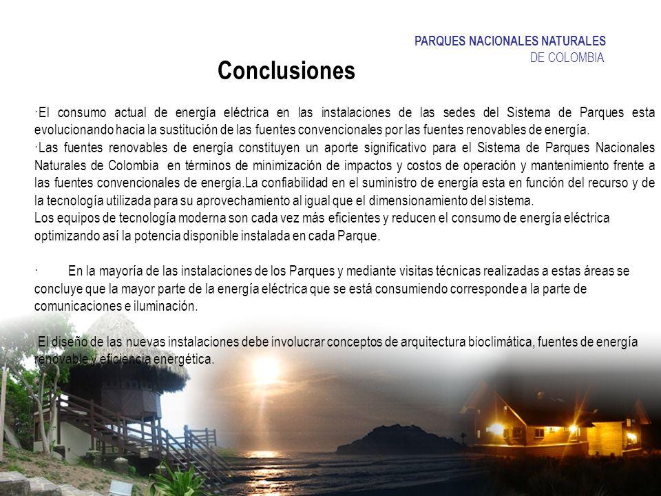 Conclusiones PARQUES NACIONALES NATURALES