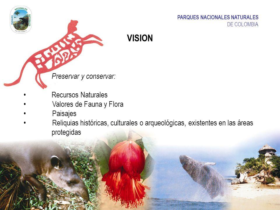 VISION PARQUES NACIONALES NATURALES Preservar y conservar: