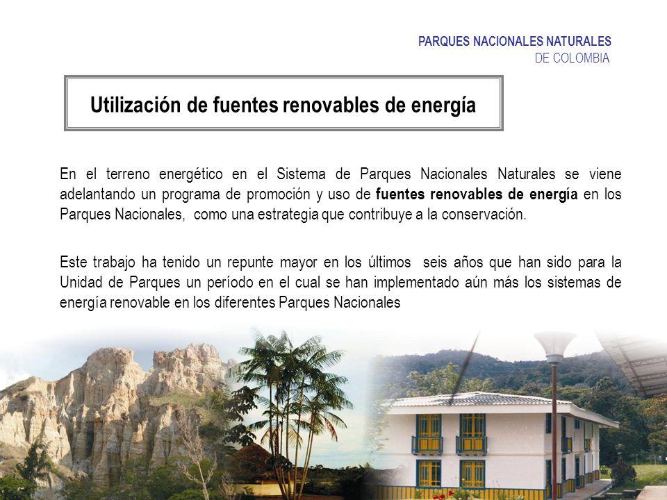 Utilización de fuentes renovables de energía