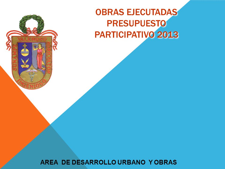 obras ejecutadas PRESUPUESTO PARTICIPATIVO 2013