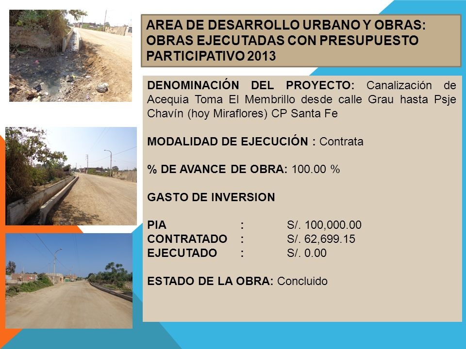 AREA DE DESARROLLO URBANO Y OBRAS: