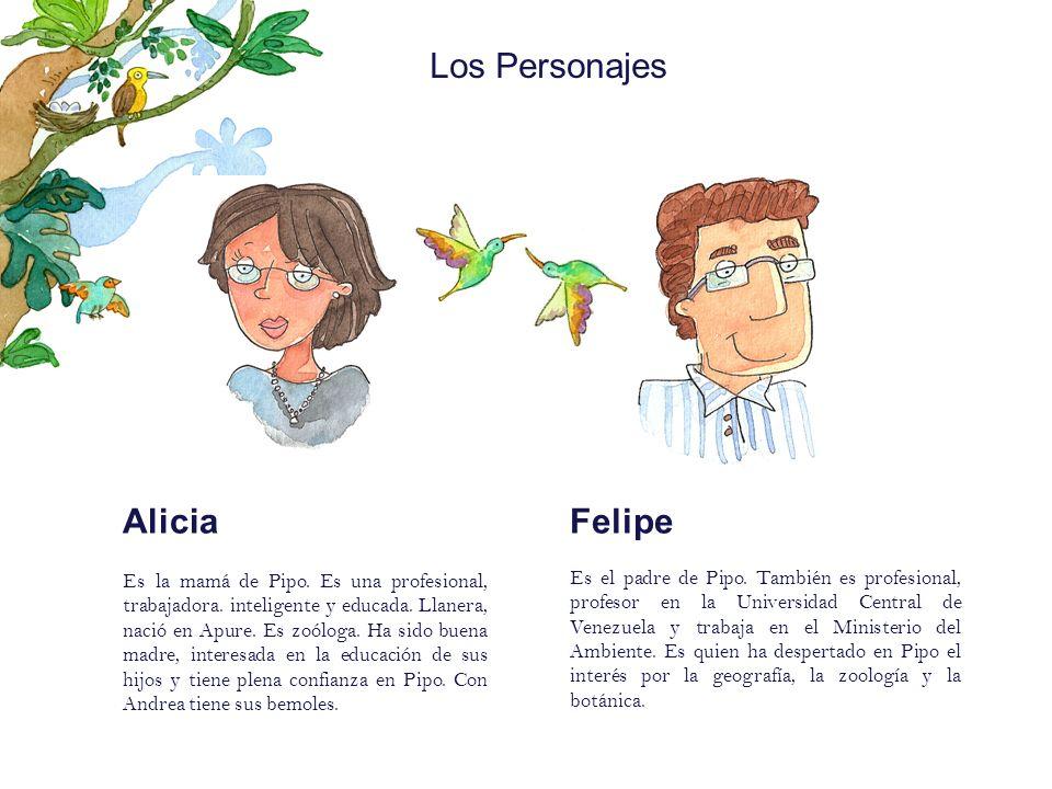 Los Personajes Alicia Felipe