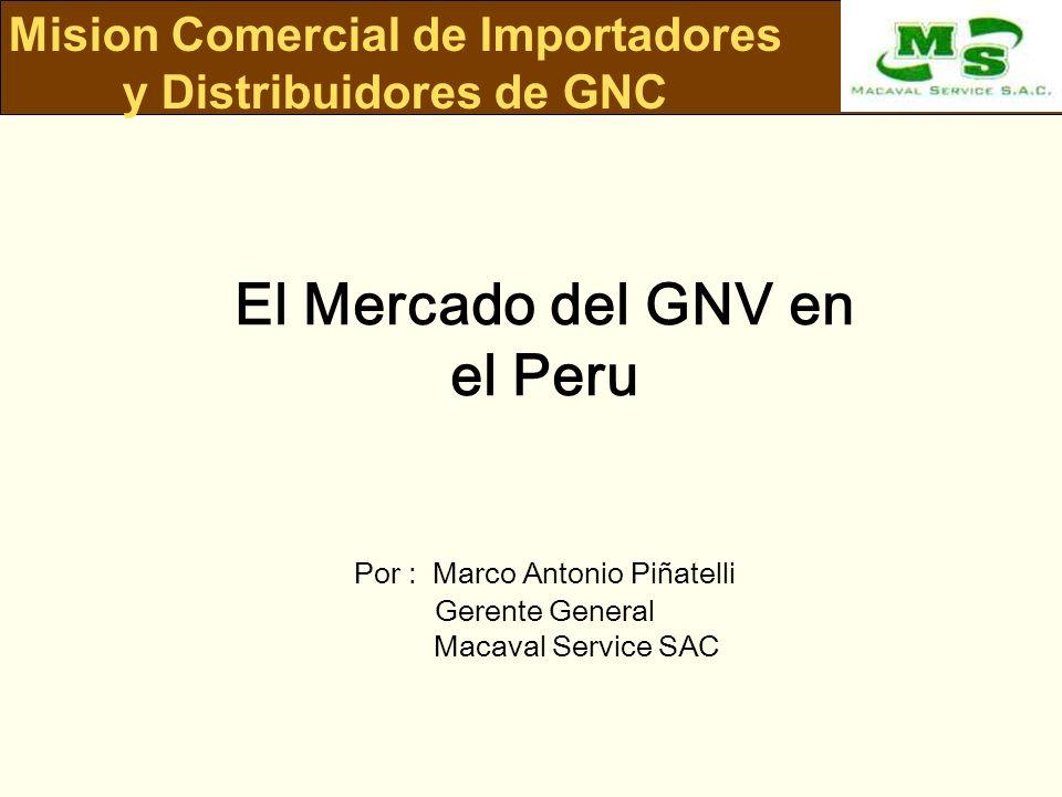 El Mercado del GNV en el Peru