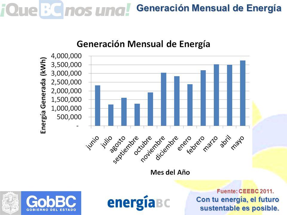 Generación Mensual de Energía