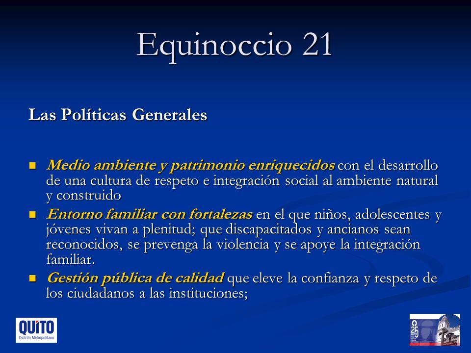 Equinoccio 21 Las Políticas Generales