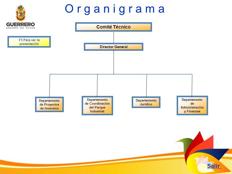 O r g a n i g r a m a Salir Comité Técnico Director General