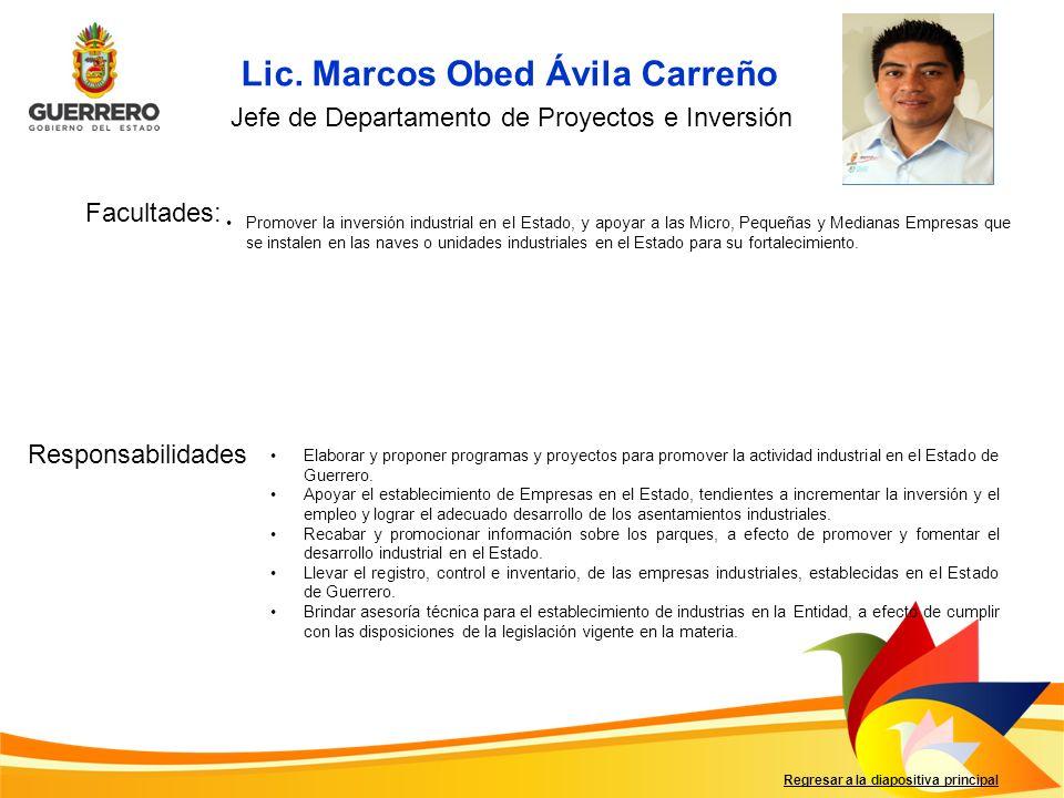 Lic. Marcos Obed Ávila Carreño