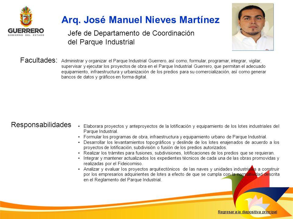 Arq. José Manuel Nieves Martínez