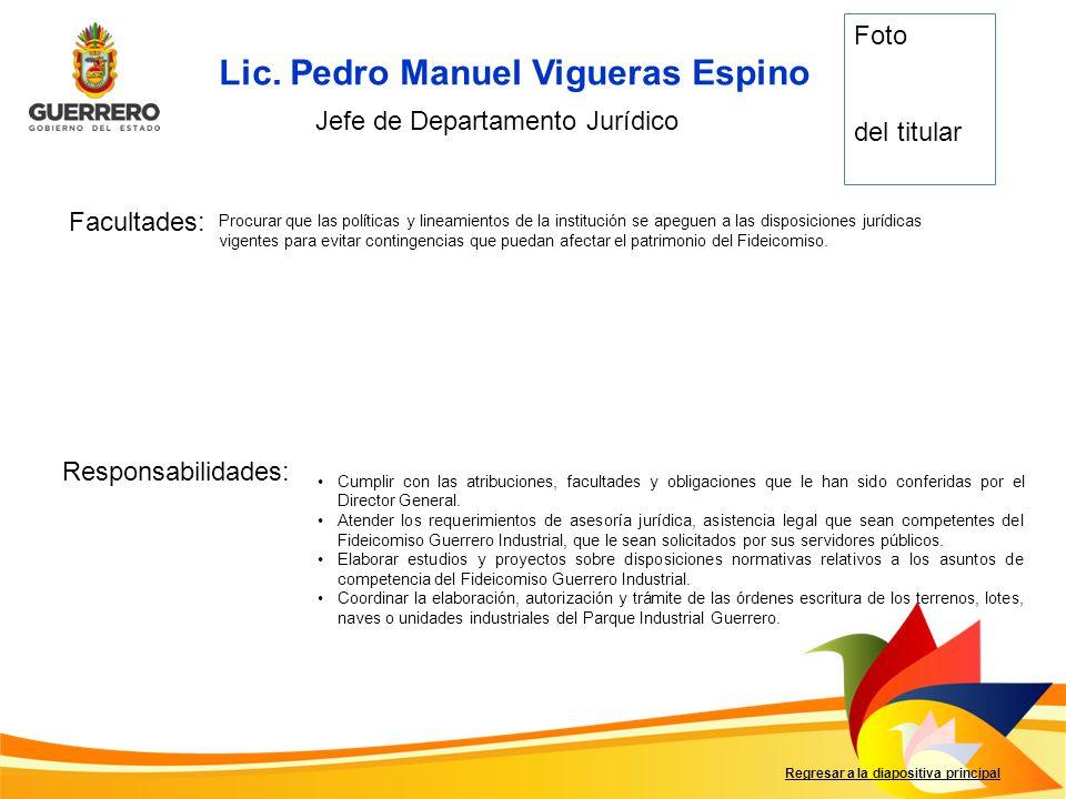 Lic. Pedro Manuel Vigueras Espino