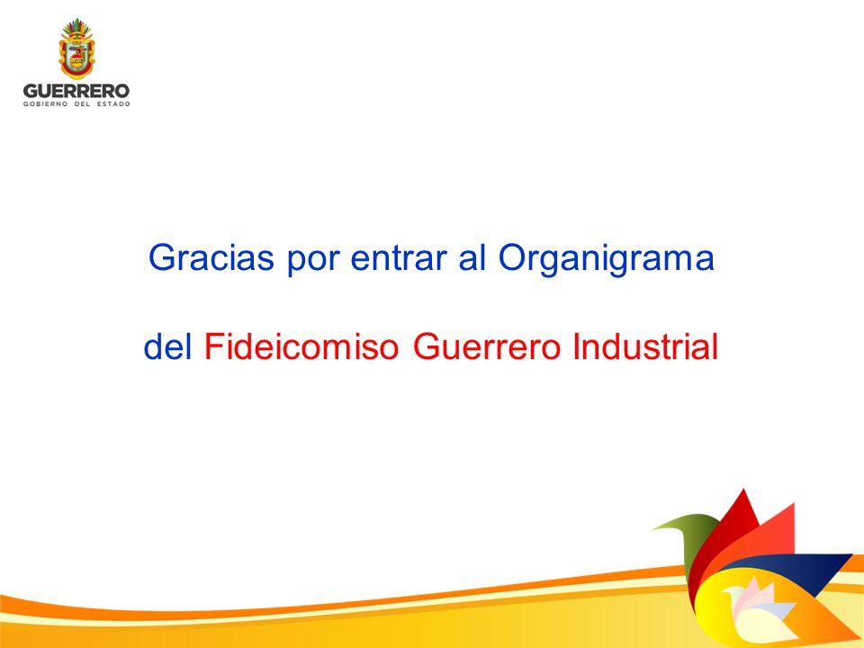 Gracias por entrar al Organigrama del Fideicomiso Guerrero Industrial
