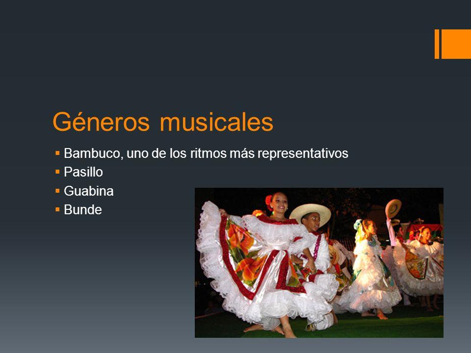 Géneros musicales Bambuco, uno de los ritmos más representativos
