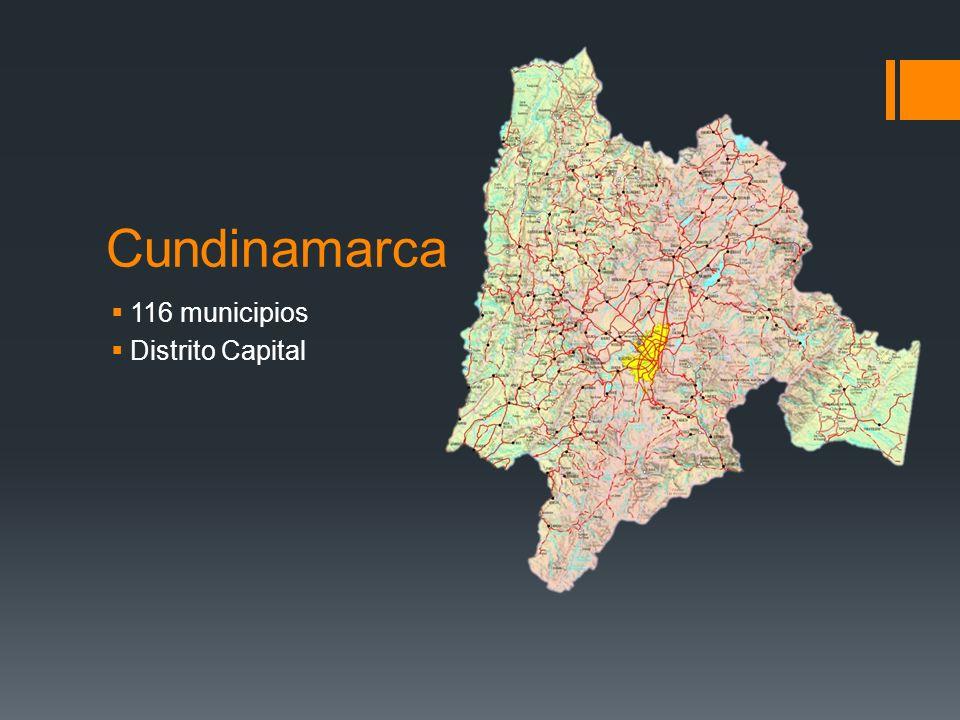 Cundinamarca 116 municipios Distrito Capital