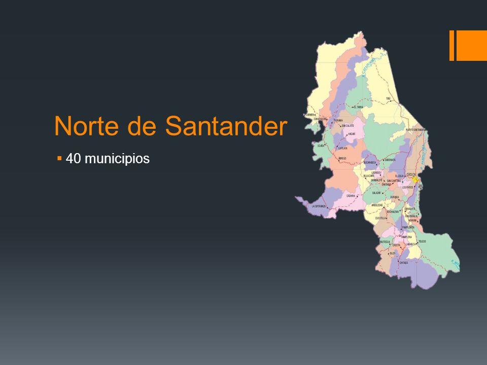 Norte de Santander 40 municipios