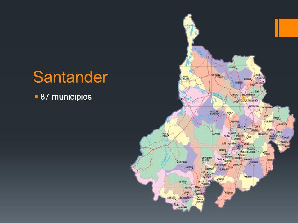 Santander 87 municipios