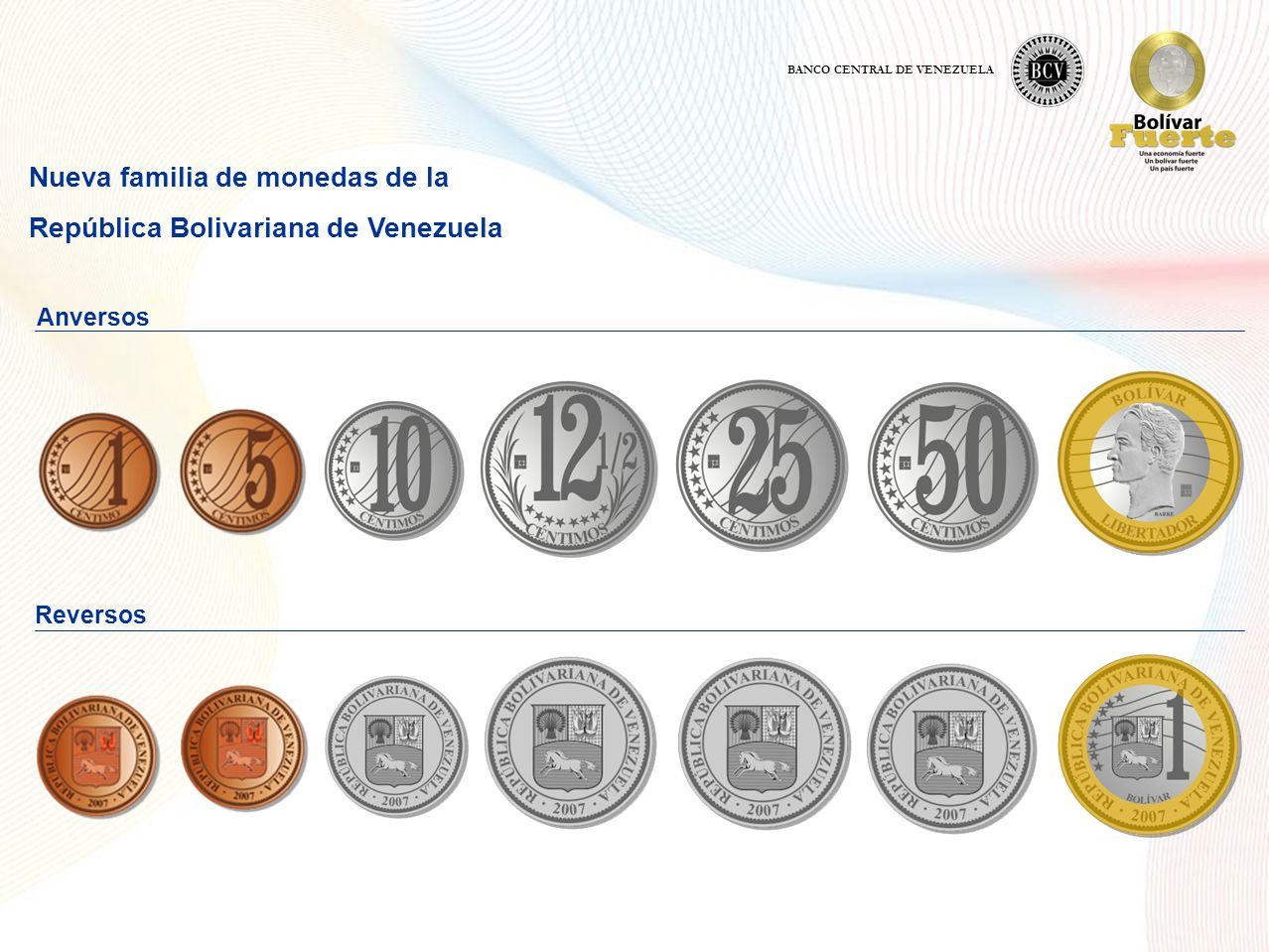 Nueva familia de monedas de la República Bolivariana de Venezuela