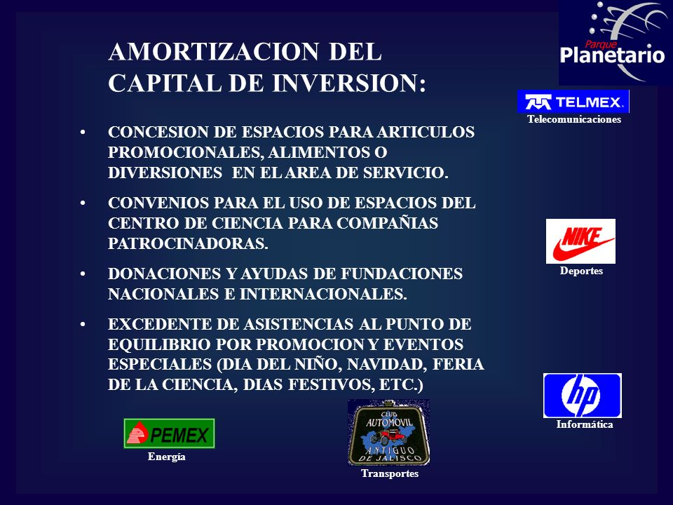 AMORTIZACION DEL CAPITAL DE INVERSION: