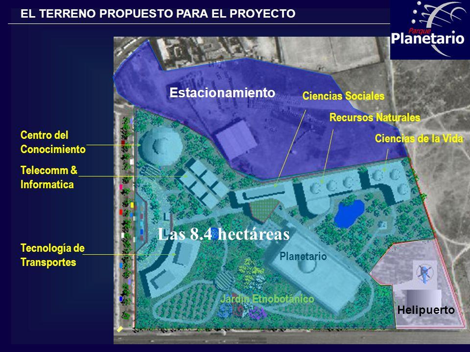 Las 8.4 hectáreas Estacionamiento