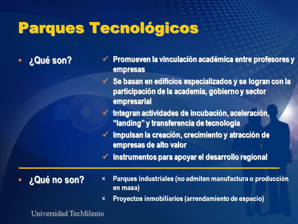 Parques Tecnológicos ¿Qué son ¿Qué no son