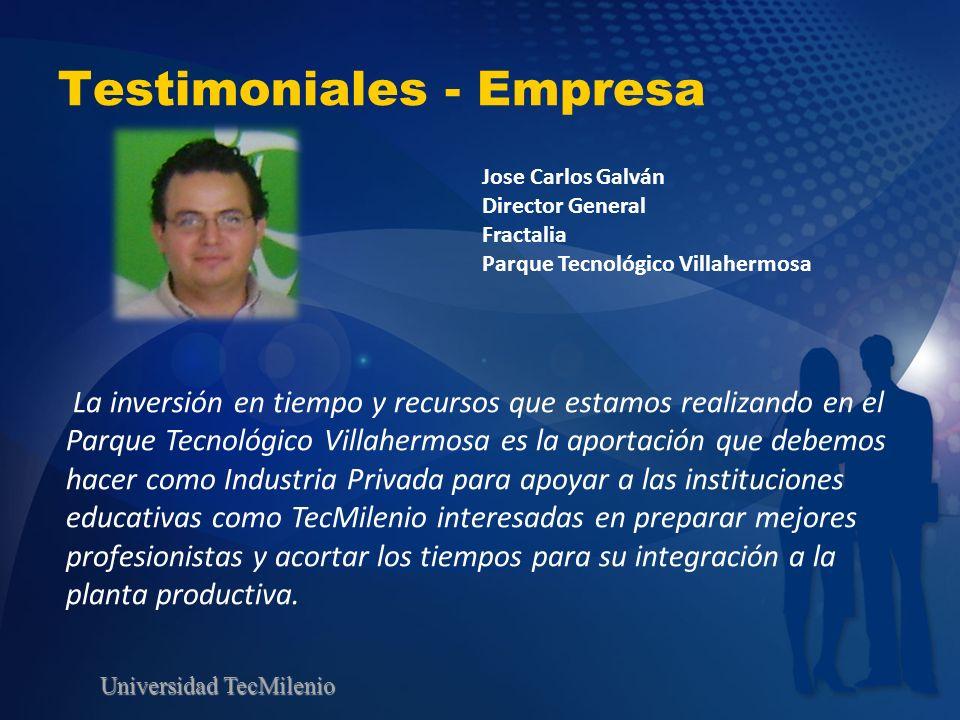 Testimoniales - Empresa