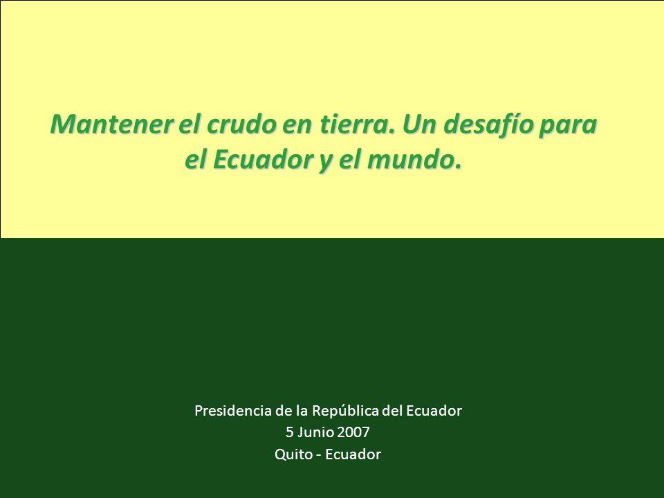 Mantener el crudo en tierra. Un desafío para el Ecuador y el mundo.