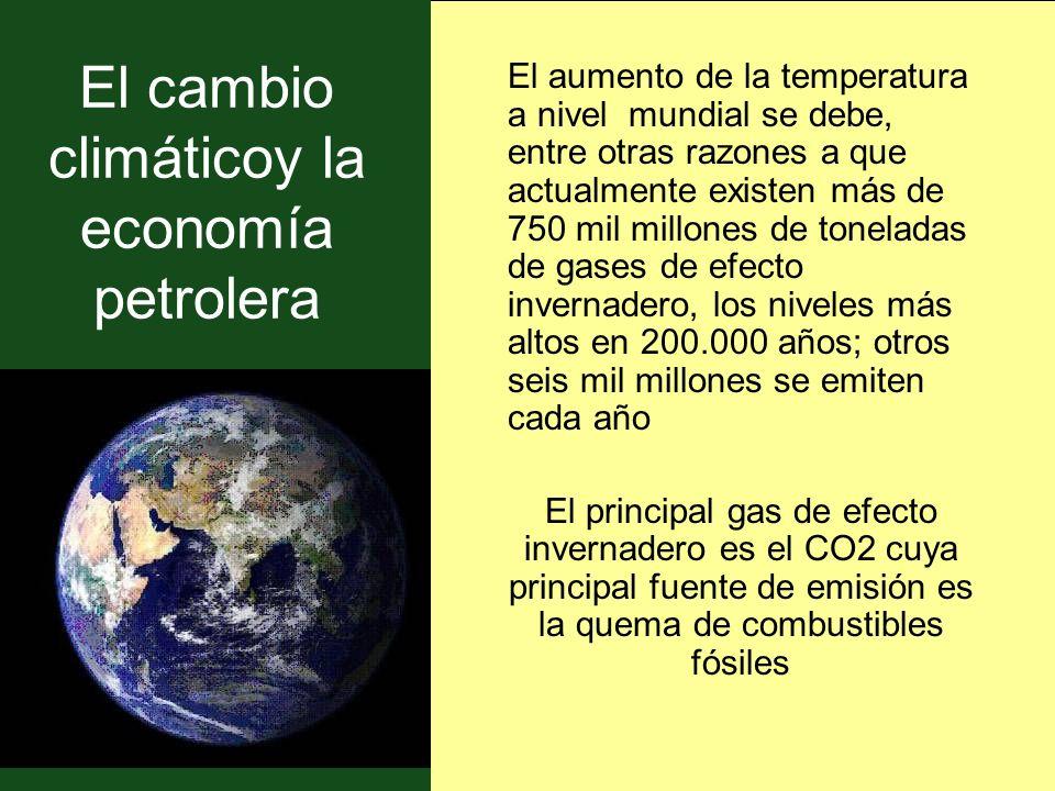 El cambio climáticoy la economía petrolera