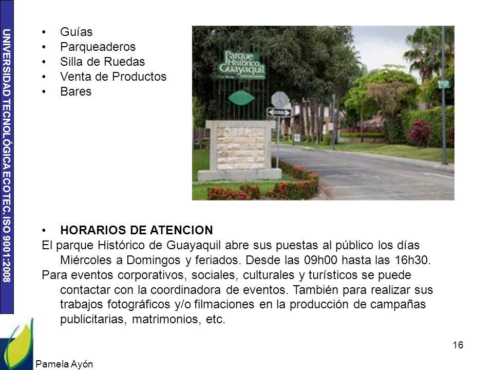 Guías Parqueaderos Silla de Ruedas Venta de Productos Bares