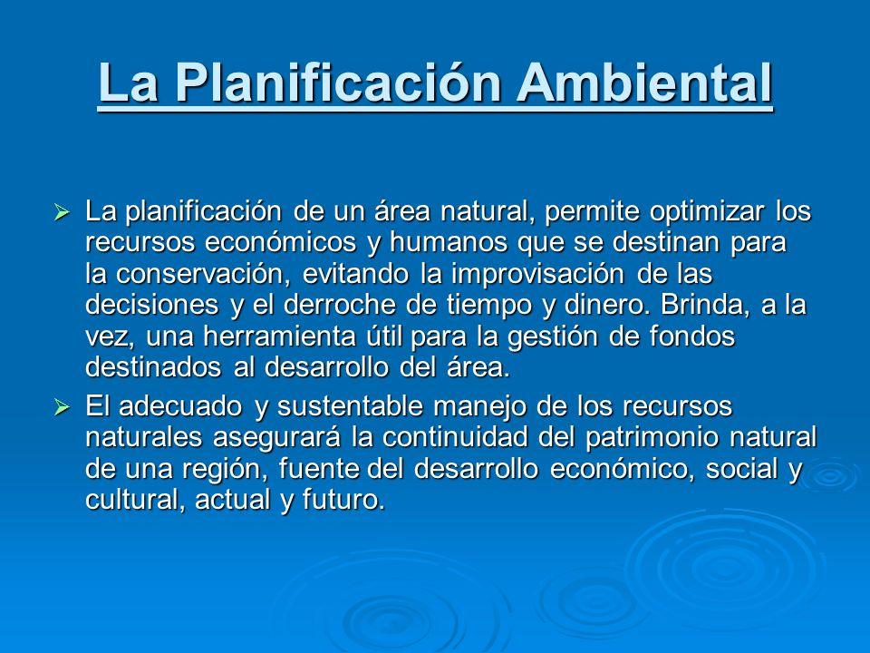 La Planificación Ambiental