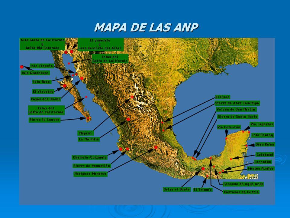 MAPA DE LAS ANP