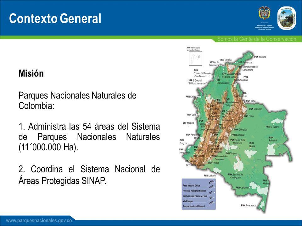 Contexto General Misión Parques Nacionales Naturales de Colombia: