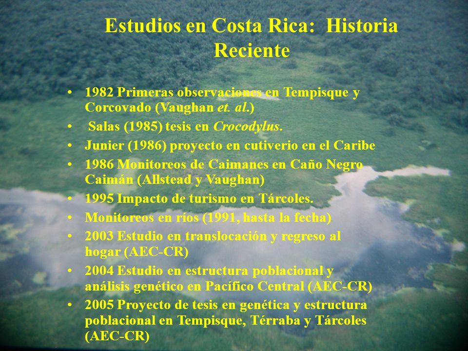 Estudios en Costa Rica: Historia Reciente