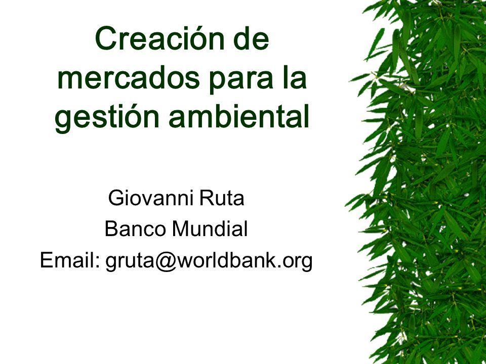 Creación de mercados para la gestión ambiental